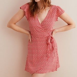 Aerie wrap dress red
